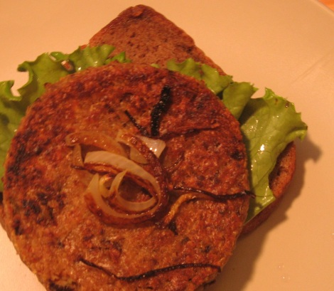 Amy's Kitchen Sonoma veggie burgers.