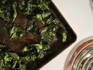 finished kale on stove