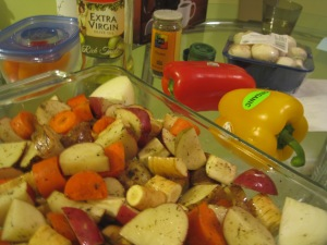 veggies in dish