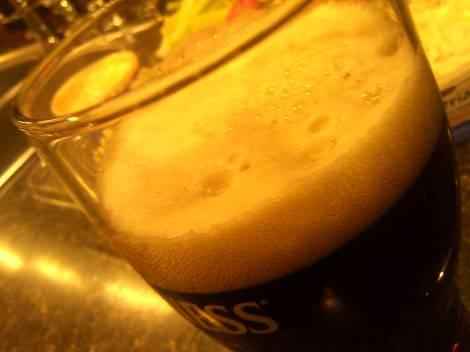 St. Peter's dark sorghum beer.