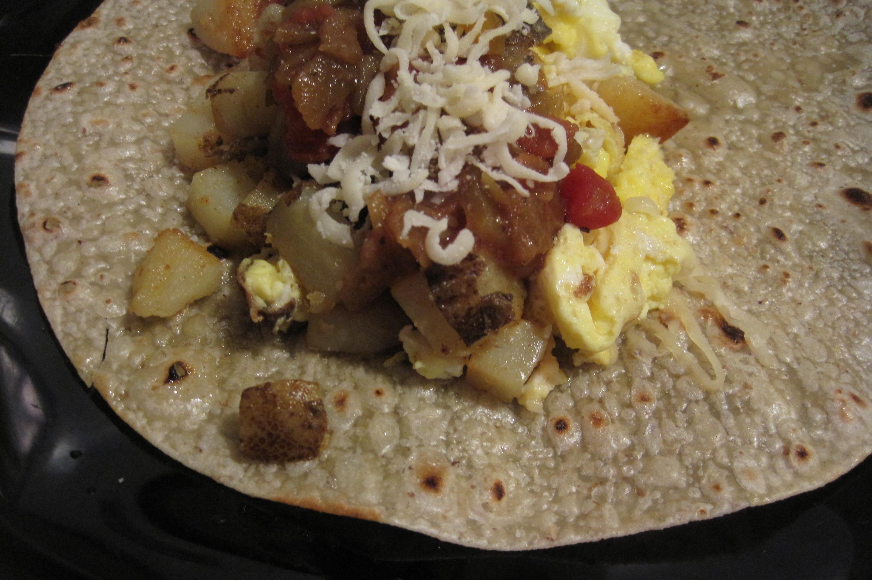 Pressed Breakfast Burritos Recipe — Dishmaps