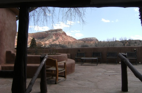 This is a nice spot to have breakfast. (Ghost Ranch, former home to Georgia O'Keeffe, northern New Mexico