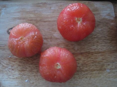 Naked tomatoes.