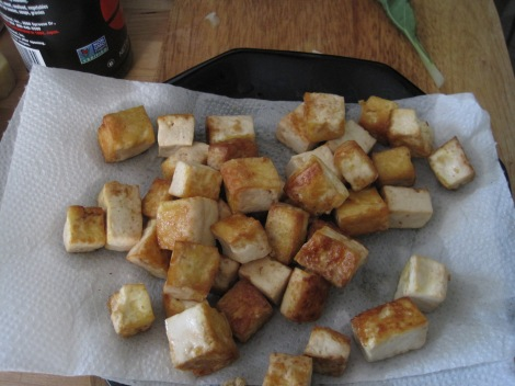 Fried tofu.