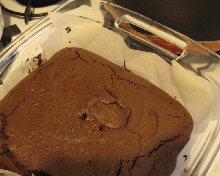 Brownies, fresh out of the oven.