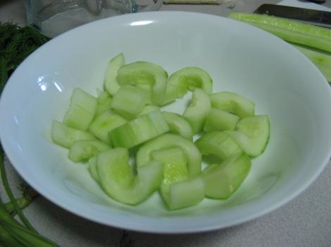 cukes in bowl