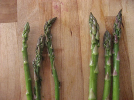 Pick out the skinniest asparagus in the bunch.