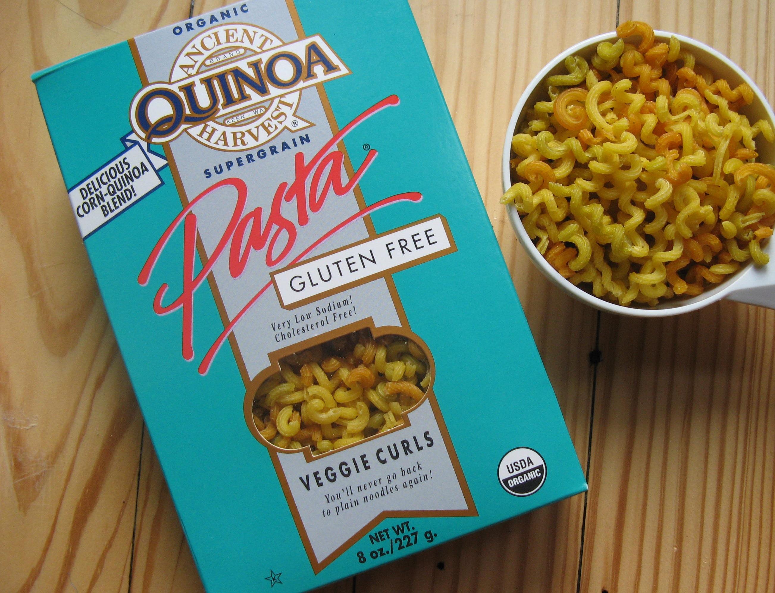 Quinoa corn pasta
