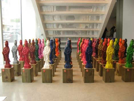 64 crayon bodhisattvas, made by Michael Peoples. (This was also one of the fliers in the chai picture...)
