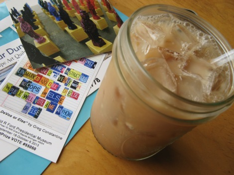 You'll need to stay hydrated as you collect fliers from artists.