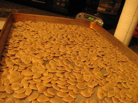 Tray of seeds, pre-seasoning.