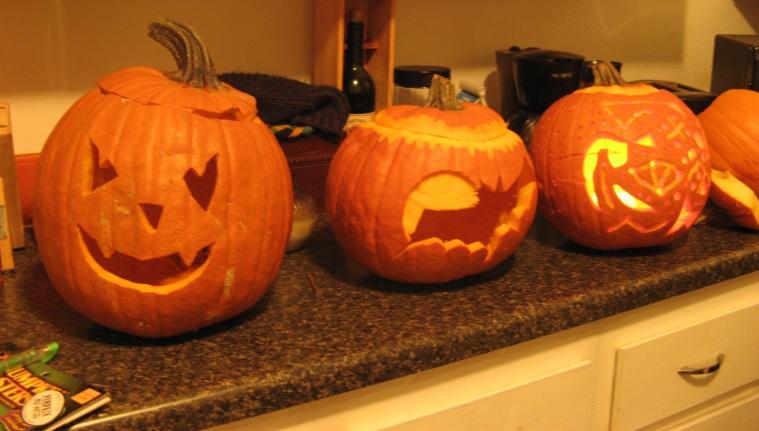 Jack-o-lanterns.