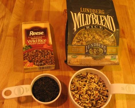 Wild rice versus a mixture of rices.