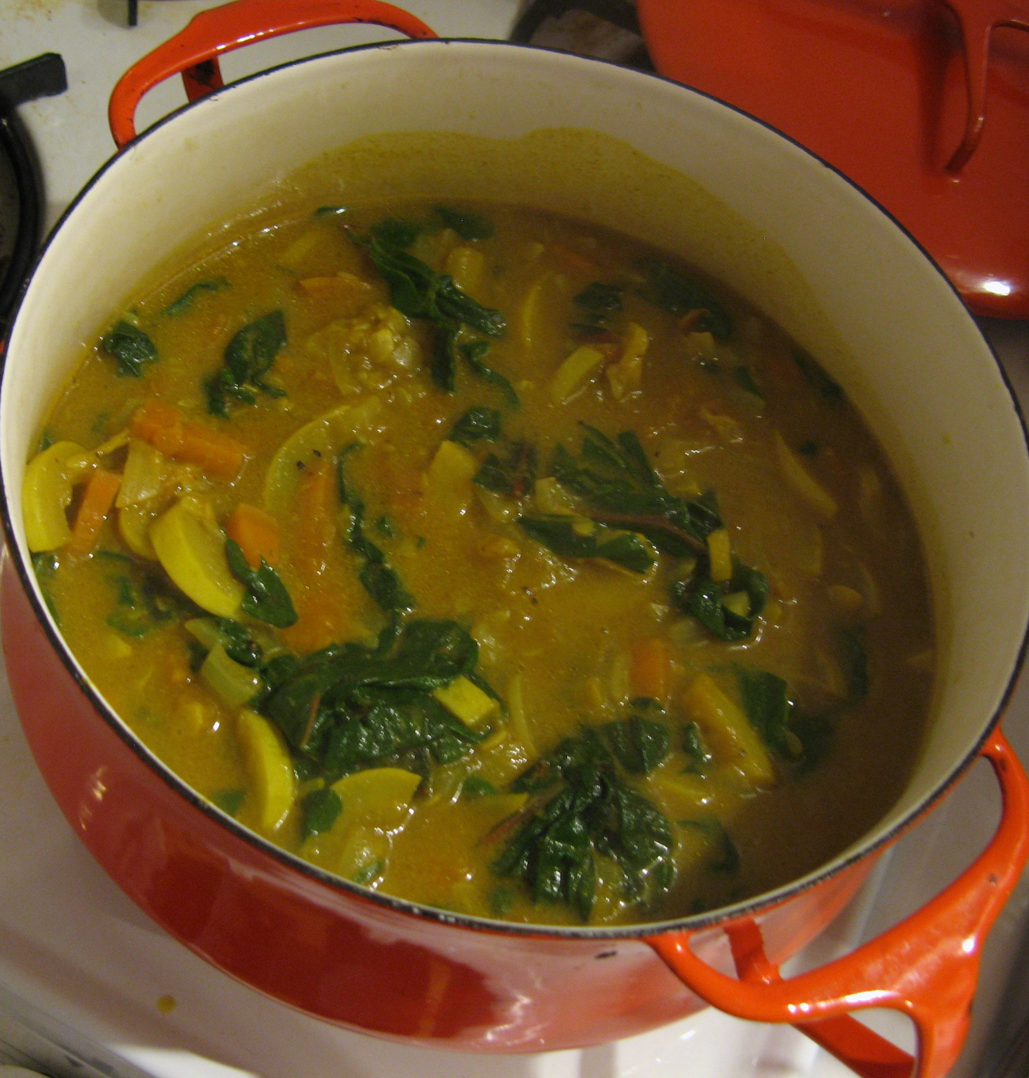 Spicy chard soup with coconut milk | V 8 Mile