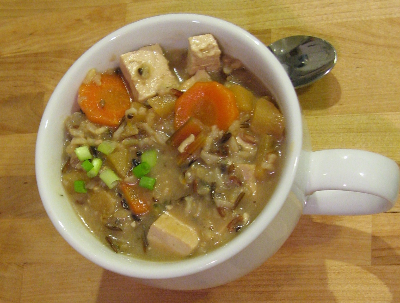 ... on how thick you like your soup, can add more or less vegetable stock