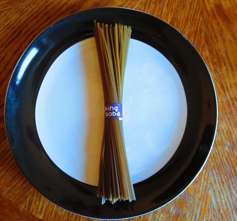 Soba noodles are darker than other noodles.