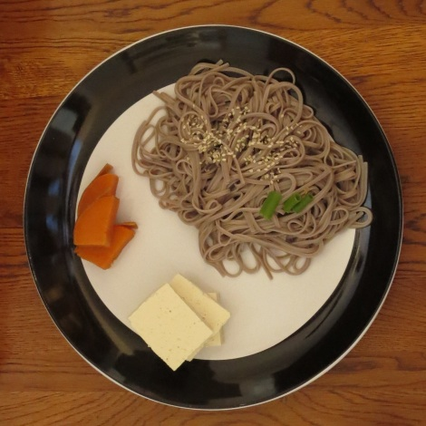 King Soba noodles, with sweet potato and tofu.