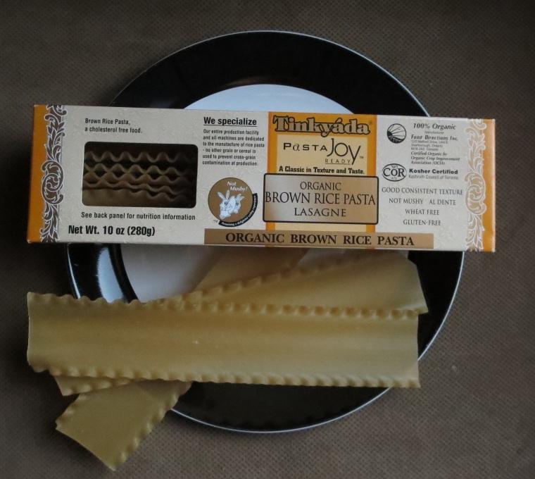 Tinkyada lasagna noodles.