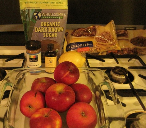 Apples and ingredients.