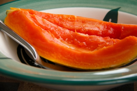 Ripe papaya. Photo by Geoff Peters geoffmobile.com.