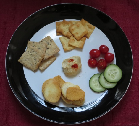 From left to right: Glutino's rosemary's crackers; Mediterranean Snacks lentil crackers; and Glutino's bagel chips.