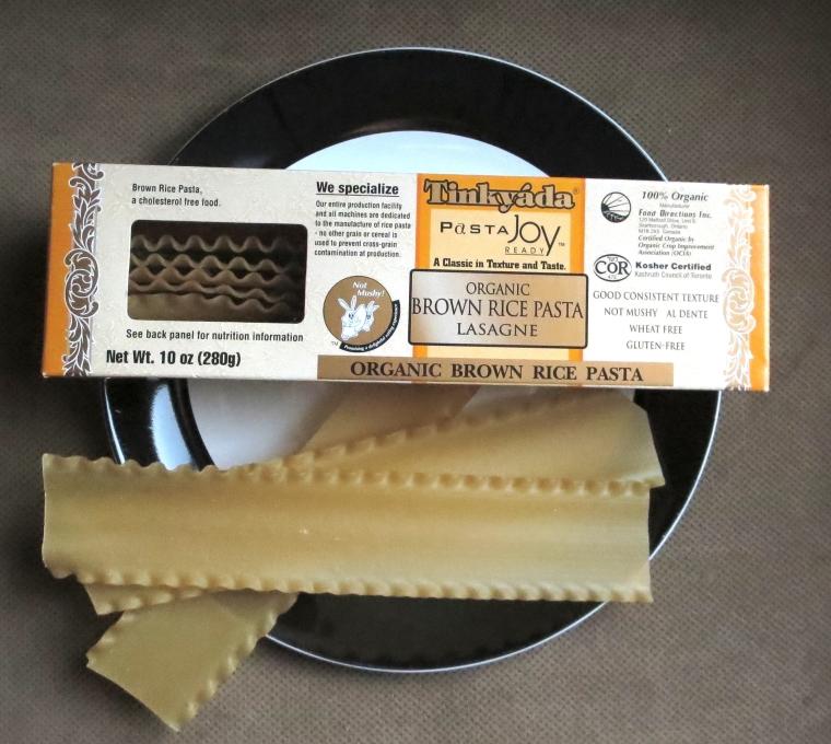 Tinkyada brown rice lasagna noodles.
