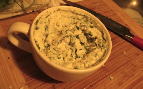 Ricotta and parsley.