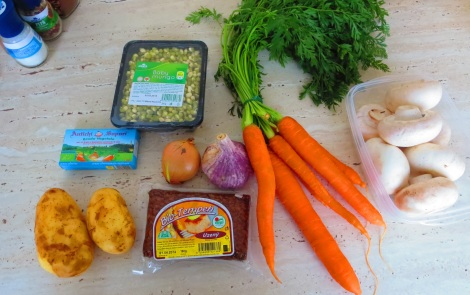 All the stew ingredients!