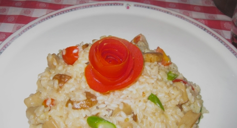 To avoid pasta in Roma, Italy, order risotto.