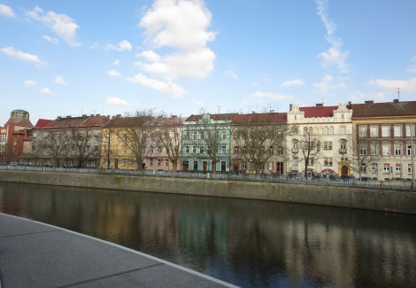 The Elbe river in Hradec Králové.