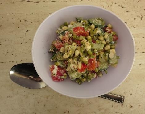Mung bean salad.