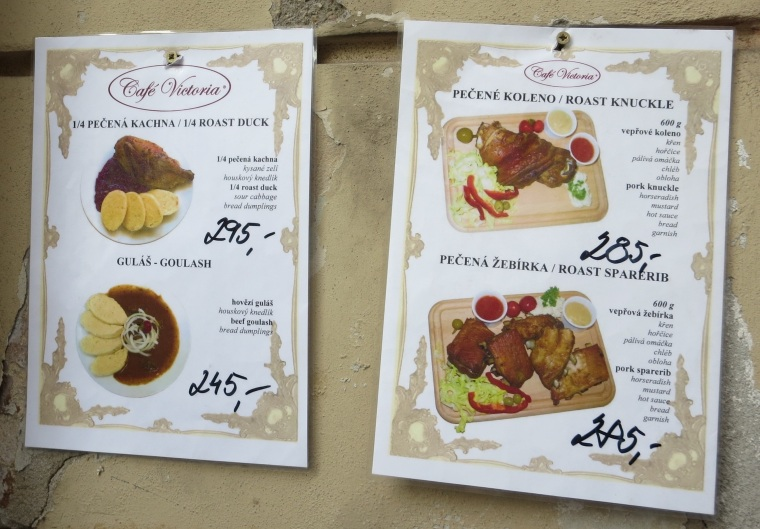 Authentic sign for Czech goulash.