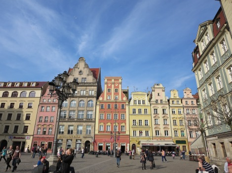 City square in Wrocław.