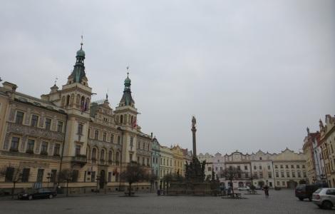 Pardubice's town square.