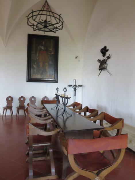 Inside the castle itself.