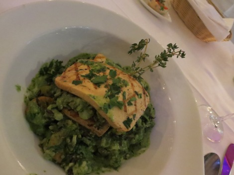 Spinach risotto with smoked tofu at Lebenbauer.