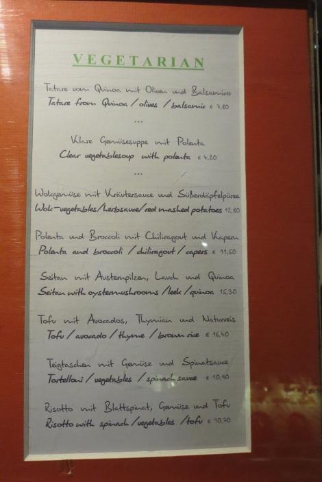 English menus: music to my eyes.