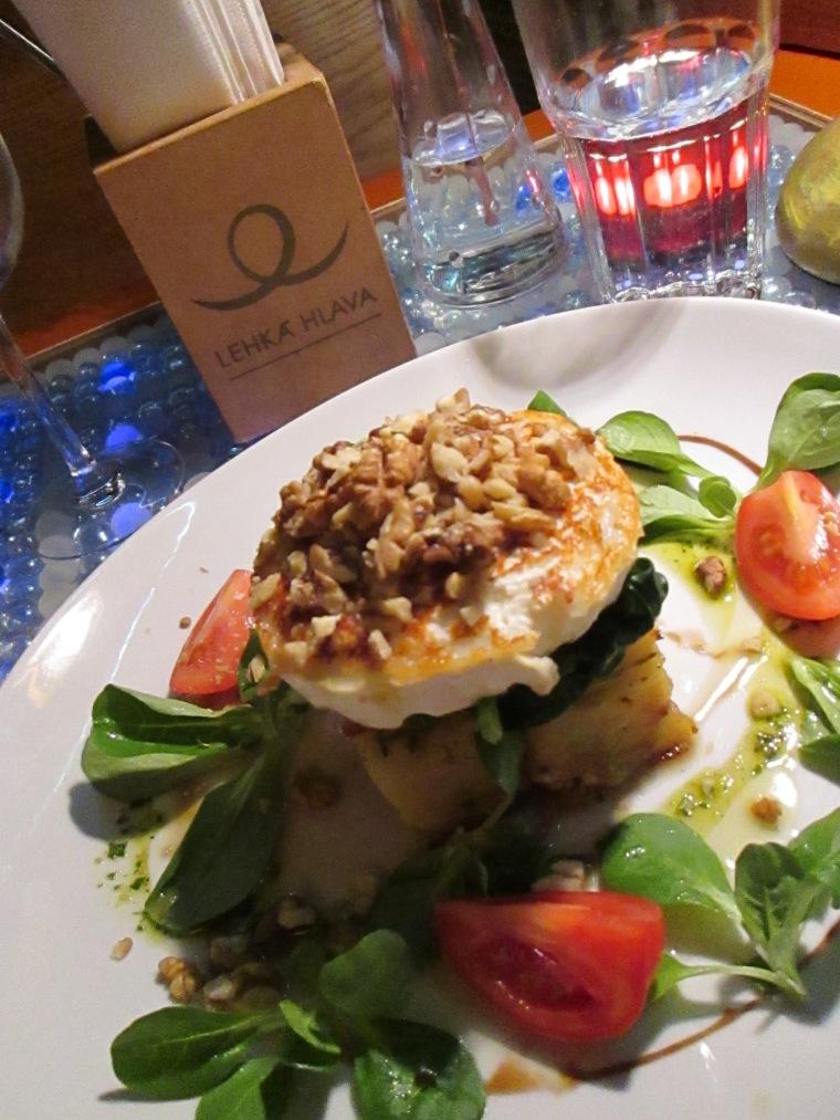 Dinner from vegetarian restaurant Lehká hlava in Prague.