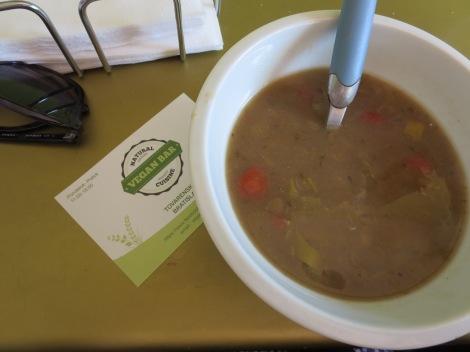 Lentil soup from Vegan Bar.