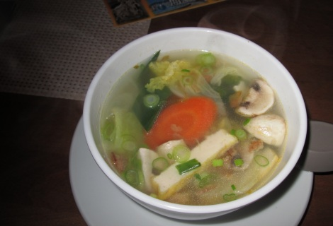 Vietnamese vegetarian soup.