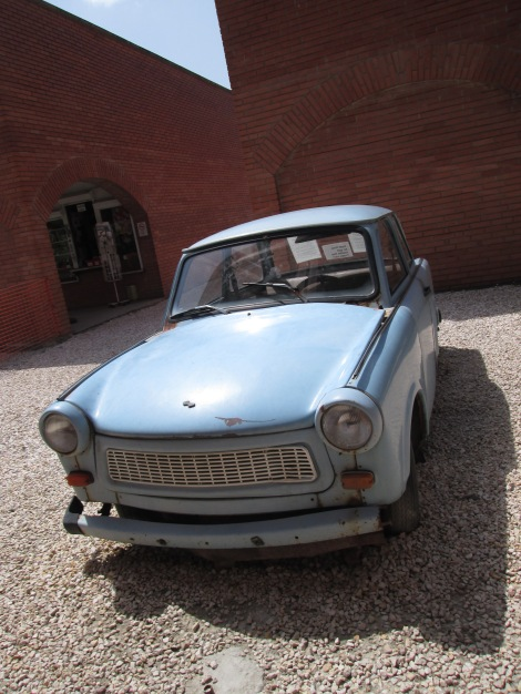 The Trabant, the only car you could buy in the Eastern Bloc.