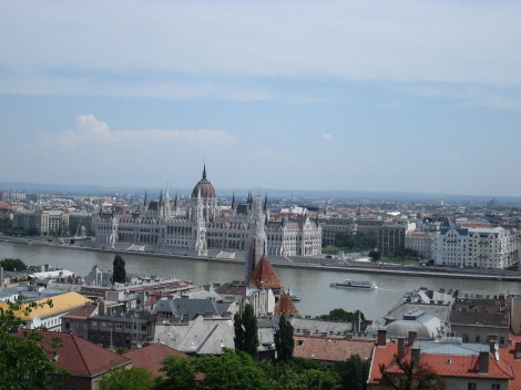 View from Buda, in Budapest.