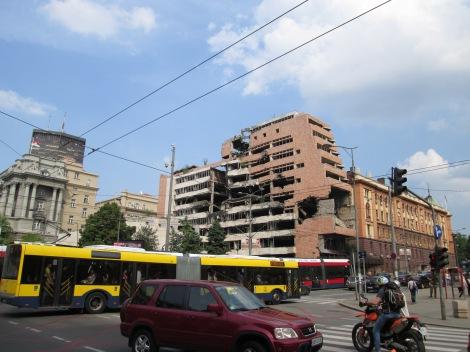 The now former Yugoslav Ministry of Defense.