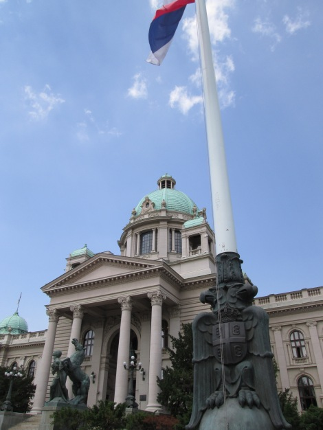 The National Assembly building in Belgrade.