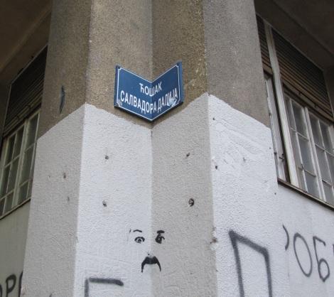 Salvadore Dali's corner in Belgrade.