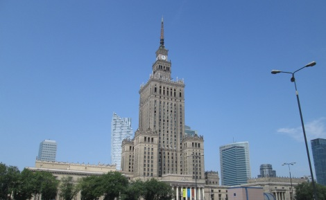 "The Ministry of Science and Culture in Warsaw, Stalin's ""gift to the city."""