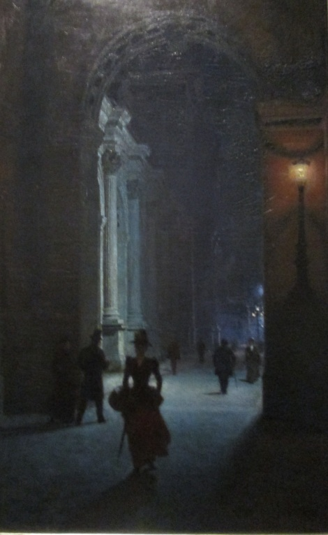 Louvre at Night II by Aleksander Gierymski.