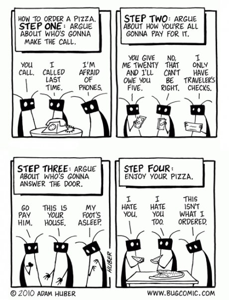how to order pizza