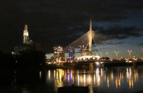 The Provencher Bridge over the Red River in Winnipeg, taken from the French side.