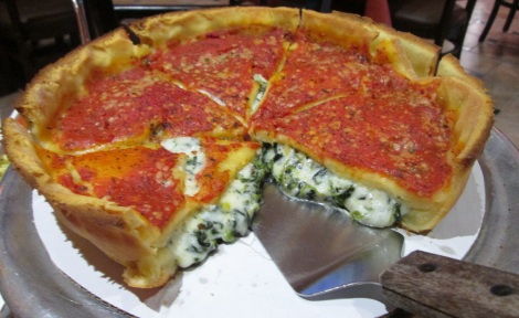 Chicago Pizza's glorious gluten-free pizza.